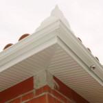 gouttiere aluminium sur débord de toiture en pvc